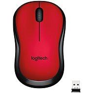Logitech M220 Silent Wireless Mouse piros - Egér