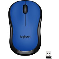 Logitech M220 Silent Wireless Mouse kék - Egér