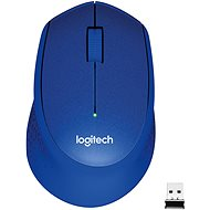 Logitech Wireless Mouse M330 Silent Plus, kék - Egér