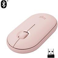Logitech Pebble M350 Wireless Mouse, rózsaszín - Egér
