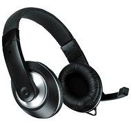SPEED LINK Thebe CS black - Mikrofonos fej-/fülhallgató