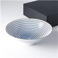 Made In Japan Nagy tál kék csíkokkal 25 cm 1,2 l - Tál