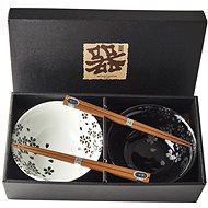 Made In Japan Silver Sakura tál készlet pálcikával 500 ml, 2 db - Tál készlet