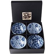 Made In Japan Blue Plum & Cherry Blossom Design 4 db-os tál készlet, 300 ml - Tál készlet