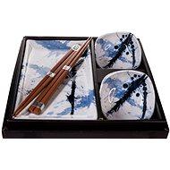 Made In Japan 6 db-os sushi szett, kék-fehér - Szett