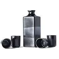 Made In Japan Gunmetal szaké készlet 5 darab - Csésze készlet