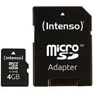 Intenso Micro SD Card Class 10 4GB - Memóriakártya
