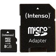 Intenso Micro SD Card Class 10 8GB - Memóriakártya