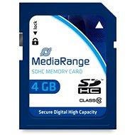 MEDIARANGE SDHC 4GB 10. osztály - Memóriakártya