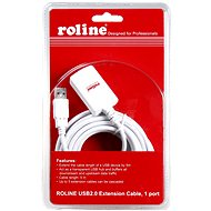 ROLINE USB 2.0 hosszabbító 5 m AA aktív fehér