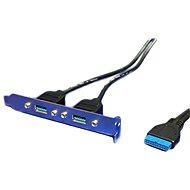 OEM 2x USB 3.0 Konzol, alaplapi csatlakozóval - Takarólemez