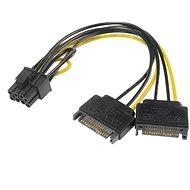 AKASA kábel adapter - 2x SATA-ról 8-tűs PCIe 2.0-ra - Átalakító