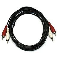 OEM 2x cinch, összekötő, 5m - Audio kábel