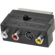 AV jel csatlakozó átalakító OEM Scart - 3x RCA + S-Video kapcsolható IN/OUT - Átalakító