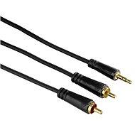 Hama csatlakozó kábel, 3,5mm jack (hím) - 2x RCA (nőstény), 1,5 méter - Audio kábel