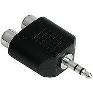Hama audio 3,5 mm jack - 2 RCA aljzat - Átalakító