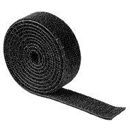 Kábelrendező Univerzális kábel rendező szalag 1 méter, fekete - Organizér kabelů