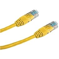 Datacom CAT5E UTP 0.5m sárga - Hálózati kábel