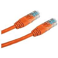 Hálózati kábel Datacom CAT5E UTP 0,5 m narancssárga - Síťový kabel