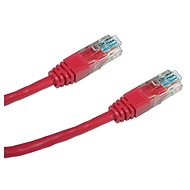Datacom, CAT6, UTP, 0.25m piros - Hálózati kábel