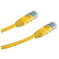 Datacom, CAT6, UTP, 25 cm sárga - Hálózati kábel