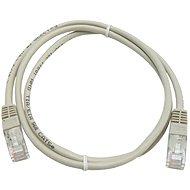 Adatátviteli hálózati kábel CAT5E UTP 1m szürke - Hálózati kábel
