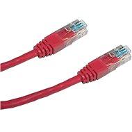 Adatátviteli kábel, CAT5E, UTP, 2 m, piros - Hálózati kábel