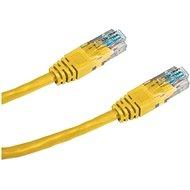 Adatátviteli kábel, CAT5E, UTP, 2 m, sárga - Hálózati kábel