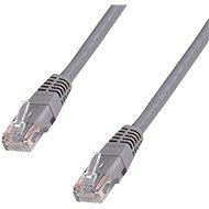 Hálózati kábel Datacom CAT5E UTP szürke 10m - Síťový kabel