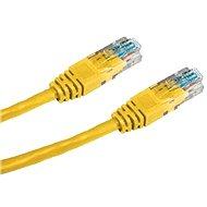 Datacom CAT5E UTP sárga 0,25 m - Hálózati kábel