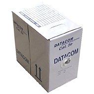 Hálózati kábel Datacom, sodrott, CAT5E, UTP, 305m/box sárga