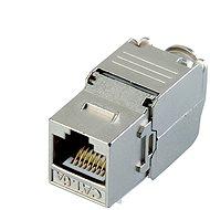 Datacom Keystone RJ45 STP CAT6A önvágó, ezüst - Csatlakozó