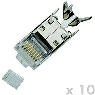 Datacom dugó STP CAT7 (6A) 8p8c-RJ45 huzal (10 db)