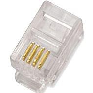 10-pack, Datacom, RJ10, CAT3, UTP, 4p4c, nem árnyékolt, halmozott - Csatlakozó