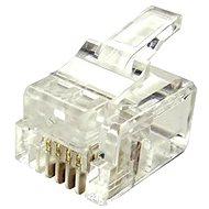 10-pack, Datacom, RJ11, CAT3, UTP, 6p4c, nem árnyékolt, halmozott - Csatlakozó