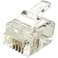 100-pack, Datacom, RJ11, CAT3, UTP, 6p4c, árnyékolatlan, halmozott, vékony kábelhez - Csatlakozó