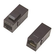 Datacom Paneles csatlakozó UTP CAT5E  2 x RJ45 (8 p 8c) egyenes - Vezeték összekötők