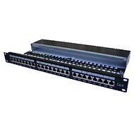 Datacom 24x RJ45, közvetlen, CAT6 STP, fekete, 1U - Patch panel
