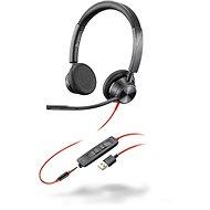 Poly BLACKWIRE 3325, USB-A + 3,5mm - Fej-/fülhallgató