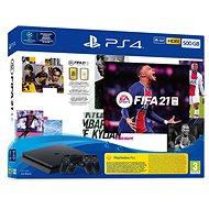 PlayStation 4 Slim 500GB + FIFA 21 + 2x DualShock 4 - Konzol