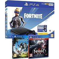 PlayStation 4 Slim 500GB + Fortnite + Nioh + Horizon Zero Dawn - Játékkonzol