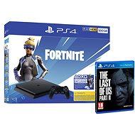 PlayStation 4 Slim 500GB + Fortnite + The Last Of Us Part II - Játékkonzol