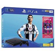 PlayStation 4 1TB Slim + FIFA 19 + extra DualShock 4 - Játékkonzol