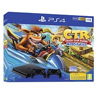 PlayStation 4 Slim 1TB + Crash Team Racing + 2x vezérlő - Játékkonzol