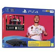 PlayStation 4 Slim 1TB + FIFA 20 + 2x DS4 vezérlő - Játékkonzol