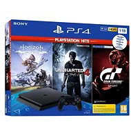 PlayStation 4 Slim 1TB + 3 játék (GT Sport, Uncharted 4, Horizon Zero Dawn) - Konzol