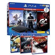 PlayStation 4 Slim 1TB + 6 játék (GTS, Uncharted 4, Horizon Zero Dawn, GOW III, Gravity Rush 2, Nioh ) - Játékkonzol