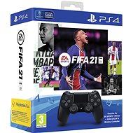 Sony PS4 Dualshock 4 V2 - Black + FIFA 21 - Kontroller