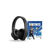 Sony PS4 Gold Wireless Headset Black + Fortnite - Gamer fejhallgató