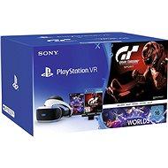 PlayStation PS4 VR + VR Worlds játék + GT Sport + kamera - Virtuális valóság szemüveg